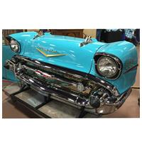 Fiftiesstore Originele 1957 Chevrolet Carfront Decoratie Turquoise