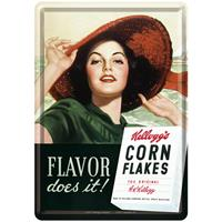 Fiftiesstore Kellogg's Flavor Does It Metalen Postkaart