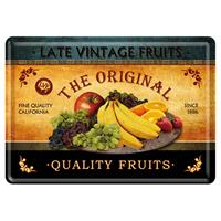 Fiftiesstore Quality Fruits Metalen Postkaart