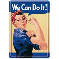 Fiftiesstore We Can Do It! Metalen Postkaart