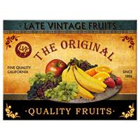 Fiftiesstore Late Vintage Fruits The Original Quality Fruits Magneet