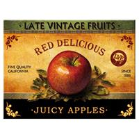 Fiftiesstore Late Vintage Fruits Red Delicious Red Apples Magneet