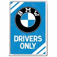 Fiftiesstore BMW Drivers Only Metalen Postkaart