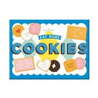 Fiftiesstore Eat More Cookies Magnet