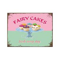 Fiftiesstore Fairy Cakes Fresh Every Day Retro Magneet