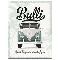 Fiftiesstore VW Bulli Good Things Are Ahead Of You Magneet