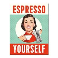 Fiftiesstore Espresso Yourself Magneet