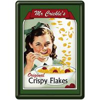 Fiftiesstore Mr. Crickles Crispy Flakes Metalen Postkaart