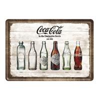 Fiftiesstore Coca-Cola In The Distinctive Bottle Metalen Postkaart