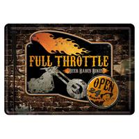 Fiftiesstore Full Throttle Metalen Postkaart