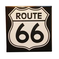 Fiftiesstore Route 66 Logo Magneet
