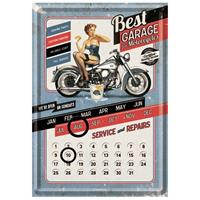 Fiftiesstore Best Garage for Motorcycles Metalen Postkaart Kalender