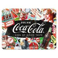 Fiftiesstore Coca-Cola Sign Of Good Taste Reliëf Metalen Bord 15 x 20 cm