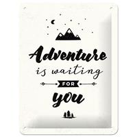 Adventure Is Waiting For You Metalen Bord