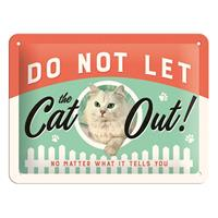 Fiftiesstore Do Not Let The Cat Out Metalen Bord