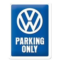 Fiftiesstore Metal Sign 'Volkswagen Parking Only' 15 x 20 cm