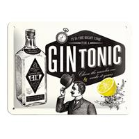 Fiftiesstore Tin SignGin Tonic' 15 x 20 cm