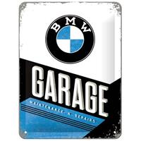 Fiftiesstore BMW Garage Maintenance & Repairs Metalen Bord 15 x 20 cm