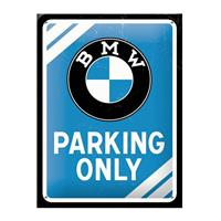 Fiftiesstore BMW Parking Only Metal Sign 15 x 20 cm
