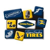Fiftiesstore Goodyear Super Fashion Tires Magneet Set