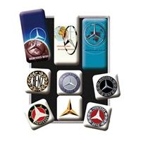 Fiftiesstore Mercedes-Benz Logo Evolutie Magneet Set