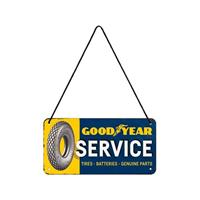Fiftiesstore Hangend Good Year Service Metalen Bord 10 x 20 cm