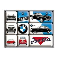 Fiftiesstore BMW Vintage Cars Magneet Set