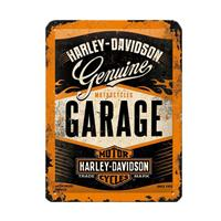 Fiftiesstore Harley-Davidson Garage Metal Sign 15 x 20 cm