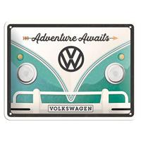Fiftiesstore Volkswagen Adventure Awaits Metal Sign 15 x 20 cm