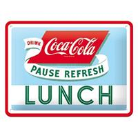 Fiftiesstore Coca-Cola Lunch Metal Sign 15 x 20 cm