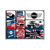 Fiftiesstore Mini Cooper Perfectly British Magneet Set