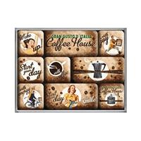 Fiftiesstore Coffee House Magneet set