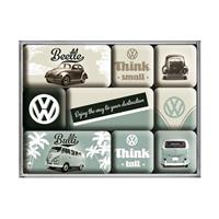 Fiftiesstore Volkswagen Think Small Think Tall Magneet set