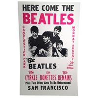 Fiftiesstore Here Come The Beatles Candlestick Park San Francisco Replica Poster