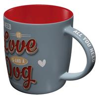 Fiftiesstore All You Need Is Love And A Dog Beker