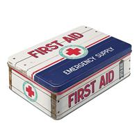 First Aid Emergency Supply Tin Box Flat