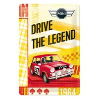 Fiftiesstore Mini: Drive The Legend Tinnen Bordje