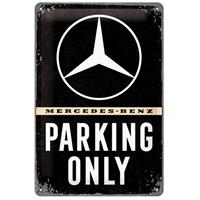 Fiftiesstore Mercedes-Benz Parking Only Metalen Bord 20 x 30 cm