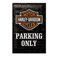 Fiftiesstore Harley-Davidson Tin Sign Parking Only 20 x 30 cm
