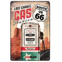 Fiftiesstore Tin SignRoute 66 Gas Station' 20 x 30 cm