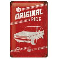 Fiftiesstore Tin SignVW Golf The Original Ride' 20 x 30 cm