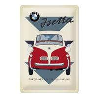 Fiftiesstore Metalen Plaat BMW Isetta 20 x 30 cm