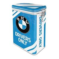 BMW Drivers Only Tinnen Blik Met Klipsluiting