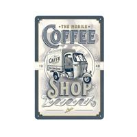 Fiftiesstore The Mobile Coffee Shop Metalen Bord 20 x 30 cm