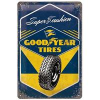 Fiftiesstore Super Cushion Goodyear Tires Metal Sign 20 x 30 cm