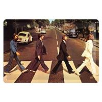 Fiftiesstore The Beatles Abbey Road Metalen Bord 20 x 30 cm