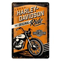 Fiftiesstore Harley-Davidson Tin Sign Original Ride 20 x 30 cm