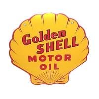 "Fiftiesstore Golden Shell Motor Oil Emaille Bord 12""/ 30 cm"