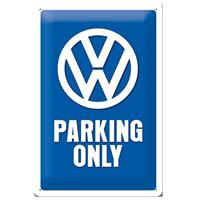 Fiftiesstore Volkswagen VW Parking Only Metalen Bord 20 x 30 cm