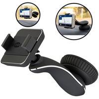 raam en dashboard autohouder met klem voor smartphones / zwart
